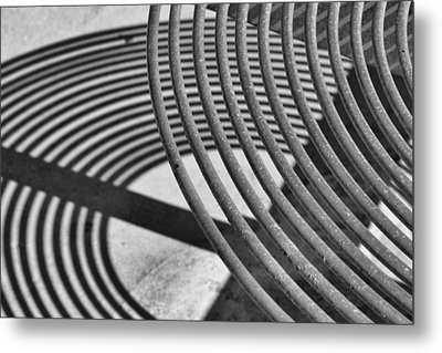 Metal Print featuring the photograph Circles And Shadows 1 by Nadalyn Larsen