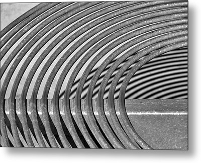 Metal Print featuring the photograph Circles And Shadows 2 by Nadalyn Larsen