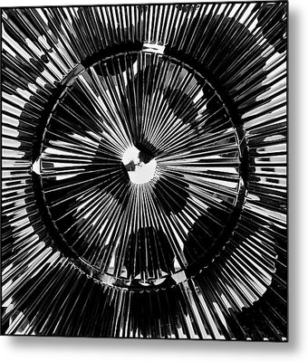 Metal Print featuring the photograph Circles And Spokes by Geraldine Alexander