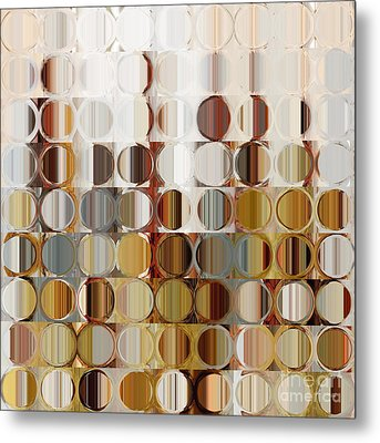 Circles And Squares 36. Modern Abstract Fine Art Metal Print by Mark Lawrence