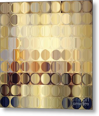 Circles And Squares 37. Modern Abstract Fine Art Metal Print