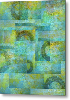 Circles And Squares Metal Print by Ann Powell
