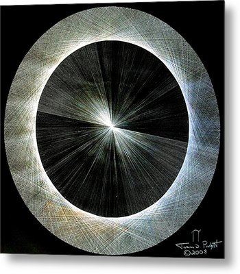 Circles Do Not Exist 720 The Shape Of Pi Metal Print