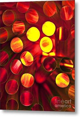 Circles Of Light Metal Print by Linda D Lester