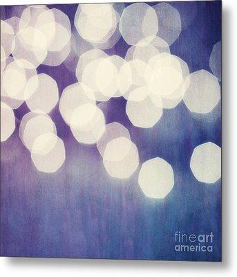 Circles Of Light Metal Print by Priska Wettstein