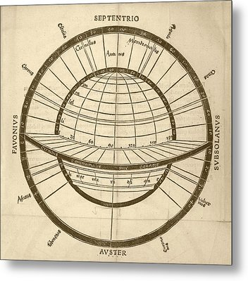 Circles On Earth Globe Metal Print