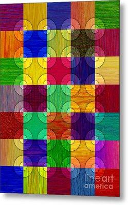 Circles Over Squares Metal Print by David K Small