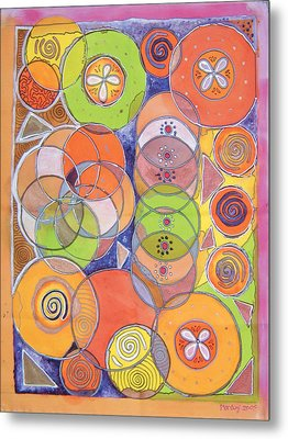 Circles Within Circles Metal Print by Mandy Simpson