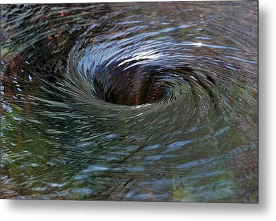 Circling Metal Print by Wendy Wilton