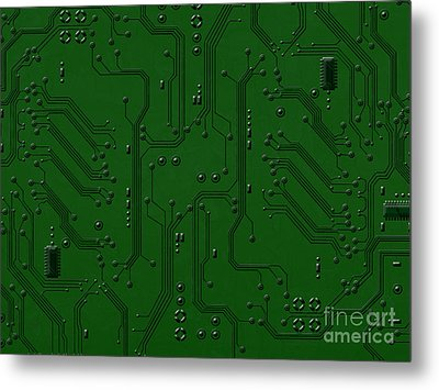 Circuit Board Metal Print by Bedros Awak
