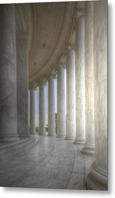 Circular Colonnade Of The Thomas Jefferson Memorial Metal Print by Shelley Neff