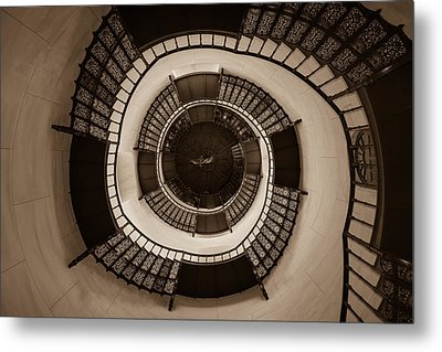 Circular Staircase In The Granitz Hunting Lodge Metal Print by Andreas Levi