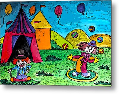Circus Metal Print by Monica Engeler