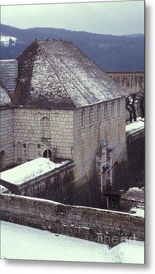 Citadelle Gate Under Snow Metal Print