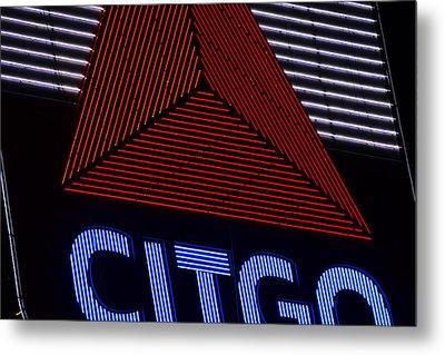 Citgo Sign Closeup Boston Ma Metal Print by Toby McGuire