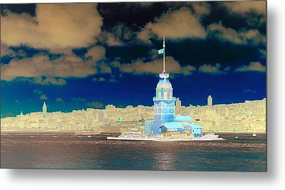 Cities By The Sea Metal Print
