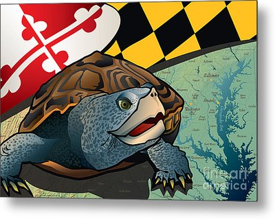 Citizen Terrapin Maryland's Turtle Metal Print