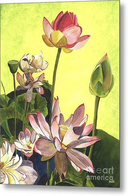 Citron Lotus 1 Metal Print by Debbie DeWitt