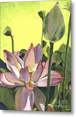 Citron Lotus 2 Metal Print by Debbie DeWitt