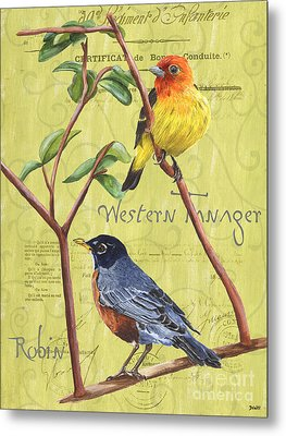 Citron Songbirds 2 Metal Print by Debbie DeWitt