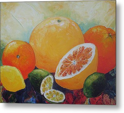 Citrus Splash Metal Print by Paris Wyatt Llanso