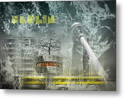City-art Berlin Alexanderplatz  Metal Print by Melanie Viola