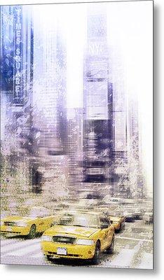 City-art Times Square I Metal Print by Melanie Viola