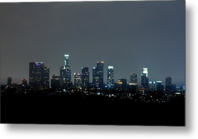 City At Night Metal Print by Andrew Raby