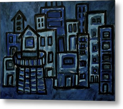 City At Night Metal Print by Jeff Gater