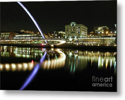 Metal Print featuring the photograph City At Night by Les Bell