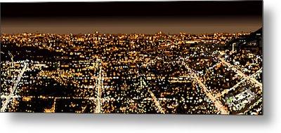 City At Night Metal Print by Shabnam Nassir