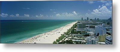 City At The Beachfront, South Beach Metal Print by Panoramic Images