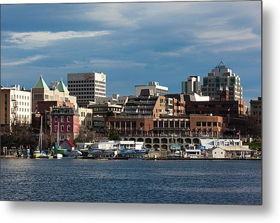 City At The Waterfront, Inner Harbor Metal Print