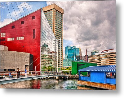 City - Baltimore Md - Harbor Place - Future City  Metal Print by Mike Savad