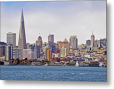 City By The Bay Metal Print by Sindi June Short