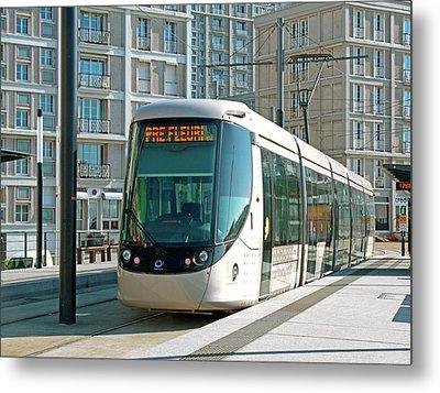 City Centre Tram Metal Print by Alex Bartel