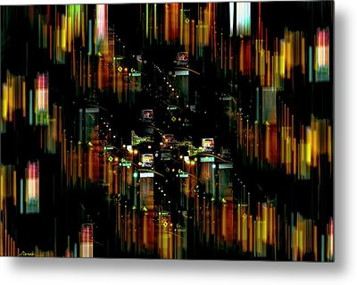 City Chaos #1 Metal Print