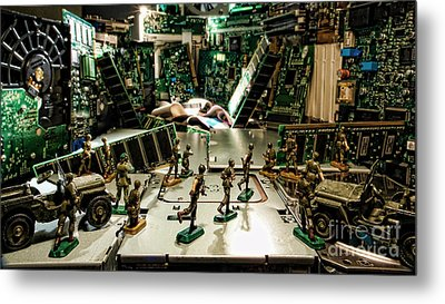 City Cyber Attack  Metal Print