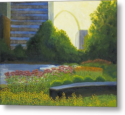 City Garden St. Louis Metal Print by Garry McMichael