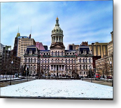 City Hall In Baltimore Metal Print