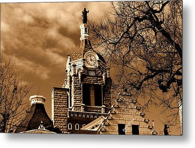 Metal Print featuring the photograph City Hall by Karen Kersey