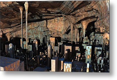 City In A Cavern Metal Print