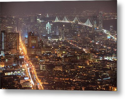City Lava Metal Print by Peter Thoeny