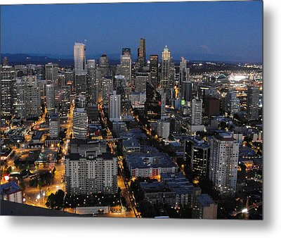Metal Print featuring the photograph City Lights by Natalie Ortiz