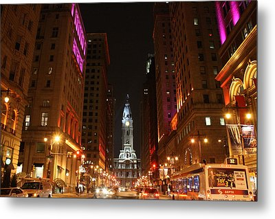 Philadelphia City Lights Metal Print by Christopher Woods