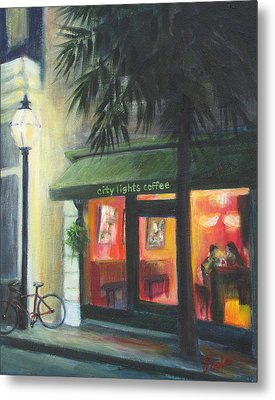 City Lights On Market St. Metal Print