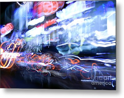 City Motion 6092 Metal Print by Igor Kislev