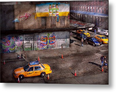 City - New York - Greenwich Village - Life's Color Metal Print by Mike Savad
