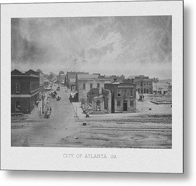 City Of Atlanta 1863 Metal Print by War Is Hell Store
