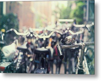 City Of Bikes Metal Print by Jane Rix